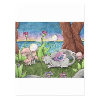 Dandelion Fluff Postcard