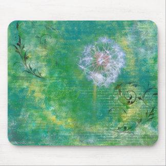 Dandelion Grunge Background Mouse Pad