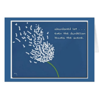 Dandelion Haiku Greeting/Note Card