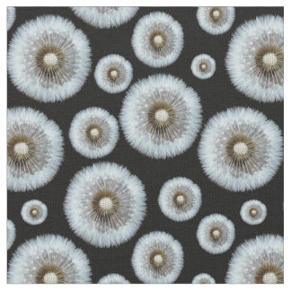Dandelion Heads pattern on any color background Fabric