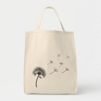 dandelion illustration copy tote bag