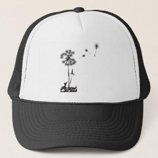 dandelion illustration trucker hat