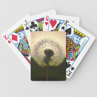 dandelion in the sun bicycle playing cards