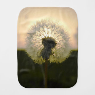 dandelion in the sun burp cloth