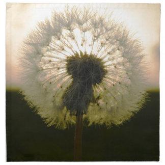 dandelion in the sun napkin