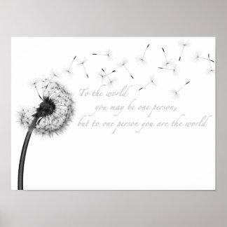 "Dandelion Inspiration 16"" x 12"", Matte Poster"