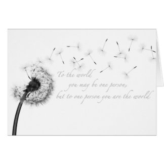 Dandelion Inspiration Greeting Card