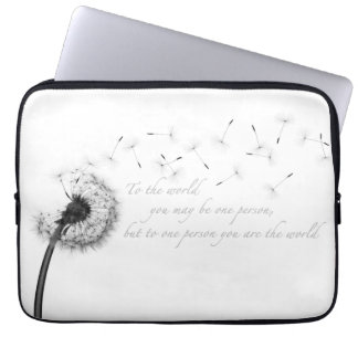 Dandelion Inspiration Neoprene Laptop Sleeve