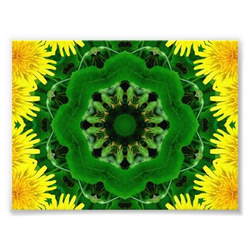 Dandelion Kaleidoscope Mandala Photograph