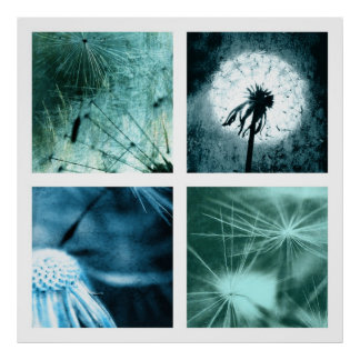Dandelion kind - breath flower art Colage 2012 004 Poster