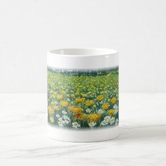 Dandelion meadow coffee mug
