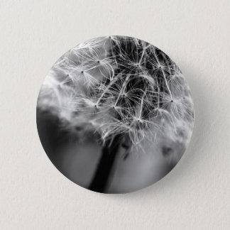 Dandelion Monochrome 2 Inch Round Button