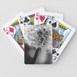 Dandelion Monochrome Bicycle Playing Cards