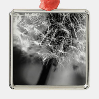 Dandelion Monochrome Metal Ornament
