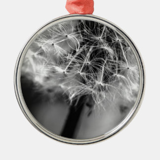 Dandelion Monochrome Metal Ornament