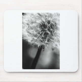 Dandelion Monochrome Mouse Pad