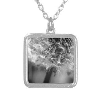 Dandelion Monochrome Silver Plated Necklace