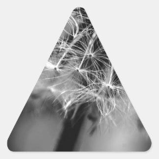 Dandelion Monochrome Triangle Sticker