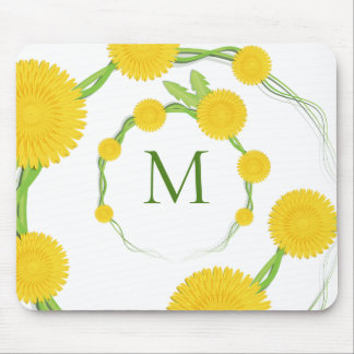Dandelion Monogram   Mousepad