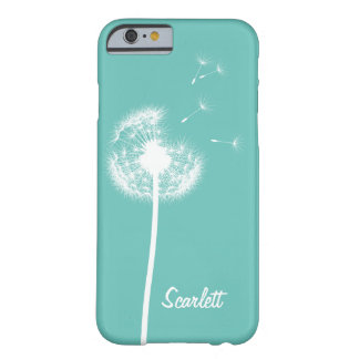 Dandelion Monogram Turquoise iPhone 6/6s Case