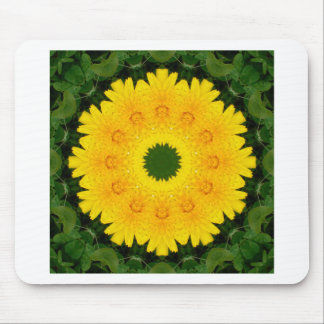 Dandelion Nature 001, Flower-Mandala Mouse Pad