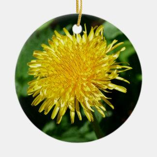 Dandelion Nature, Photo Round Ceramic Ornament