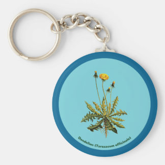 Dandelion On Blue Keychain