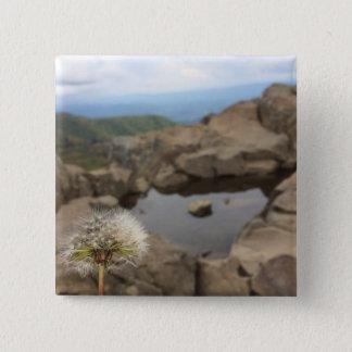Dandelion Over a Pond 2 Inch Square Button