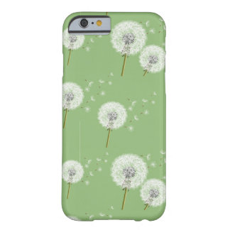 Dandelion Pattern on Green Background Barely There iPhone 6 Case