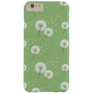 Dandelion Pattern on Green Background Barely There iPhone 6 Plus Case