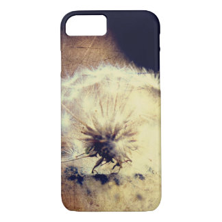 Dandelion Phone Case, Brown Background iPhone 7 Case