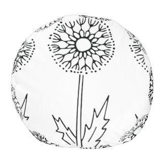 Dandelion Print on a pouf