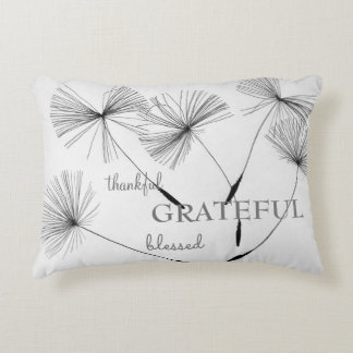 Dandelion Print Pillow Thankful Grateful Blessed