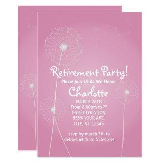 Dandelion Retirement Party Invitations