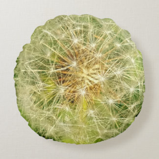 Dandelion Round Pillow