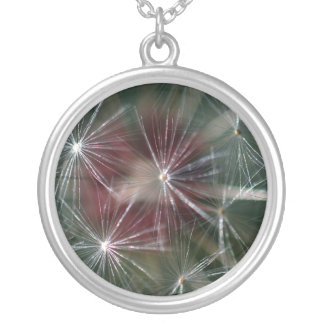 Dandelion Seed Head Silver Plated Necklace