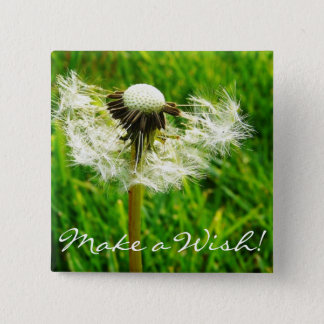 Dandelion Seeds 2 Inch Square Button