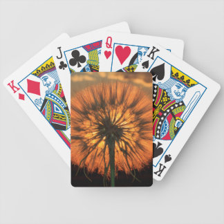 Dandelion Silhouette Bicycle Playing Cards