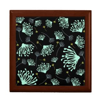 Dandelion Silhouette Black Gift Box