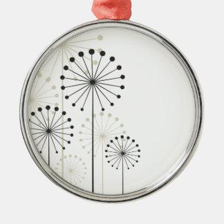 Dandelion Silver-Colored Round Ornament