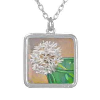 Dandelion Silver Plated Necklace