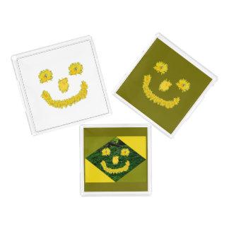 Dandelion Smiley Face Acrylic Tray