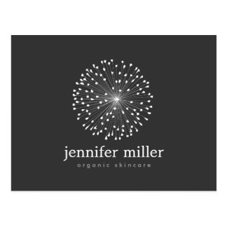 DANDELION STARBURST LOGO in WHITE Customizable Postcard
