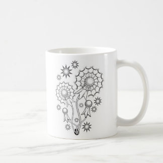 Dandelion Tattoo Design Coffee Mugs