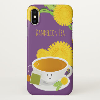 Dandelion Tea Cup Character | iPhone X Case