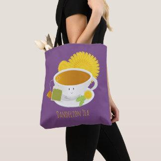 Dandelion Tea Cup Character   Tote Bag