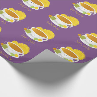 Dandelion Tea Cup Character | Wrapping Paper