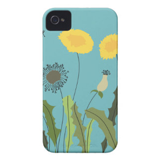 Dandelion, Turquoise iPhone 4 Case-Mate Case