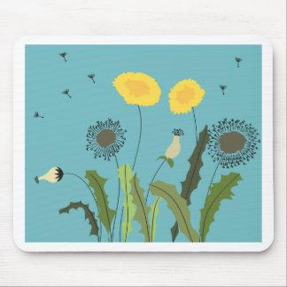 Dandelion, Turquoise Mouse Pad