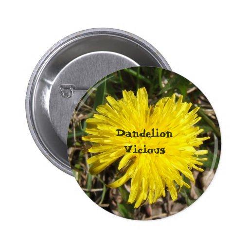 Dandelion Vicious button